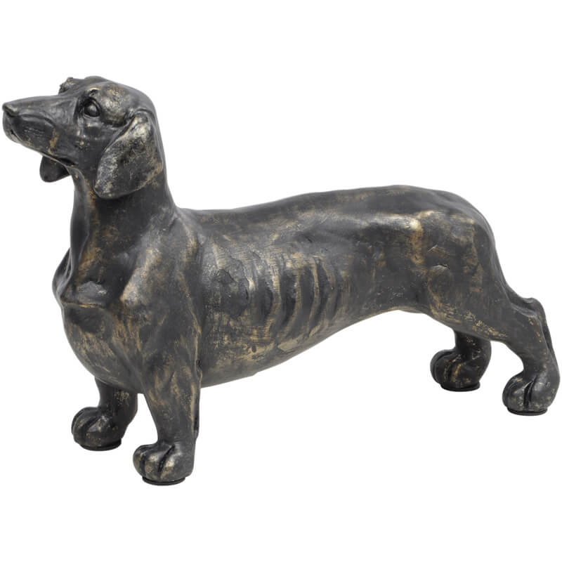 Antique Bronze Dachshund Sculpture