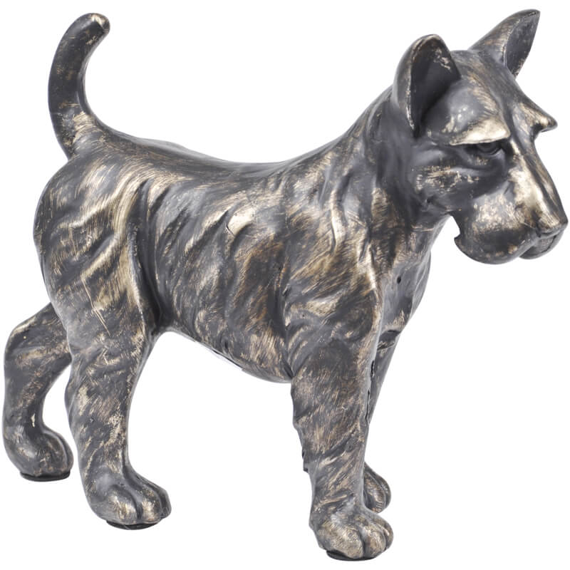Antique bronze Terrier Sculpture