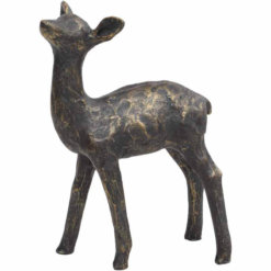 Antique bronze Fawn Sculpture