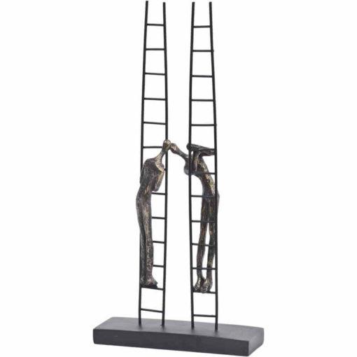 Antique Bronze Double Ladder Sculpture