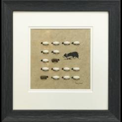 collie Herding sheep by Penny lindop