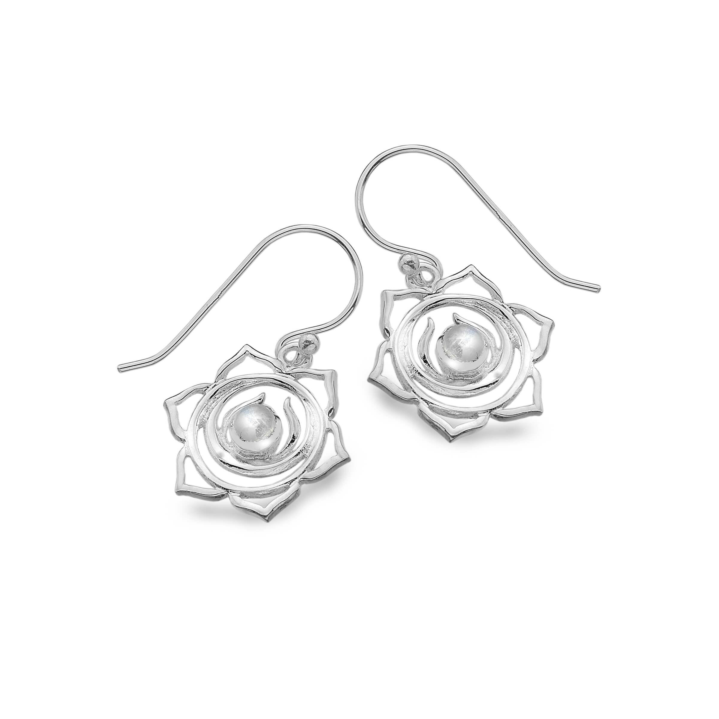 Lotus Moonstone Earrings