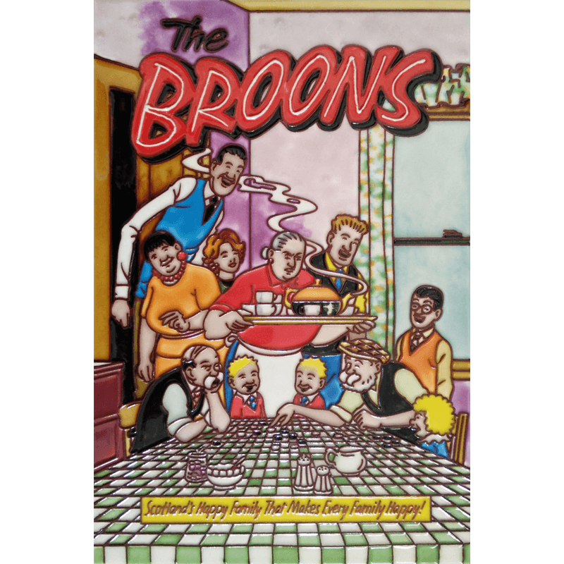 The Broons Yer Teas Oot Hand Painted Tile