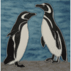 Magellanic Penguin Hand Painted Tile