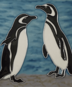 Magellanic Penguin Hand Painted Tile