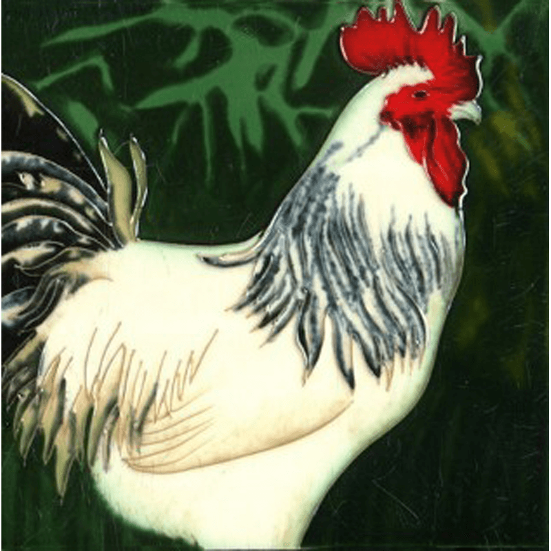 Cockerel Hand Painted Tile