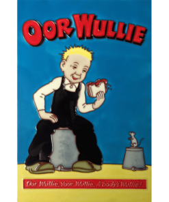 Wullie & Jeemy Handed Painted Tile