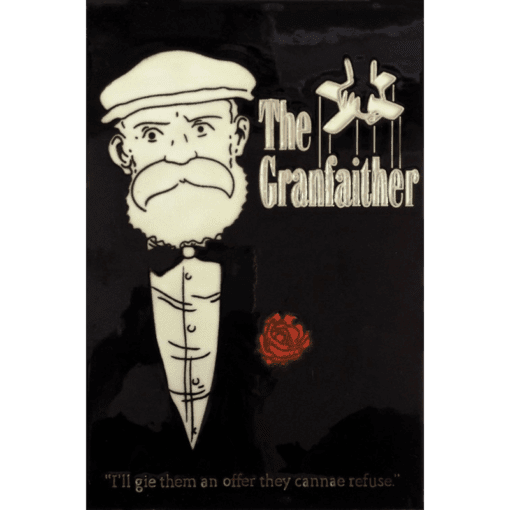 The Grandfaither Hand Painted Tile