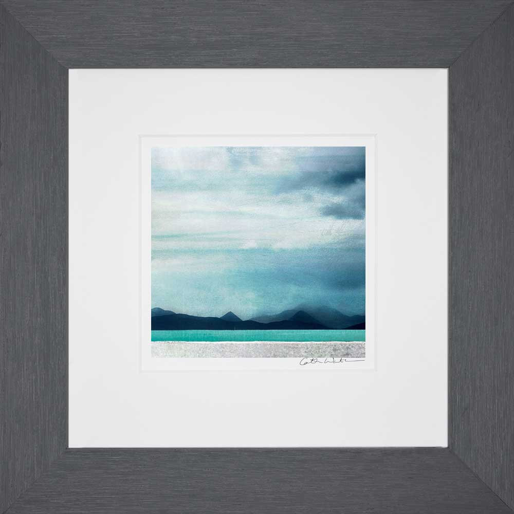 Red & Black Cullin Iale of Skye_Small print framed