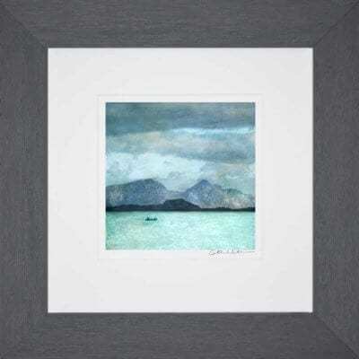 Rum from Ardnamurchan Lighthouse_Small print framed