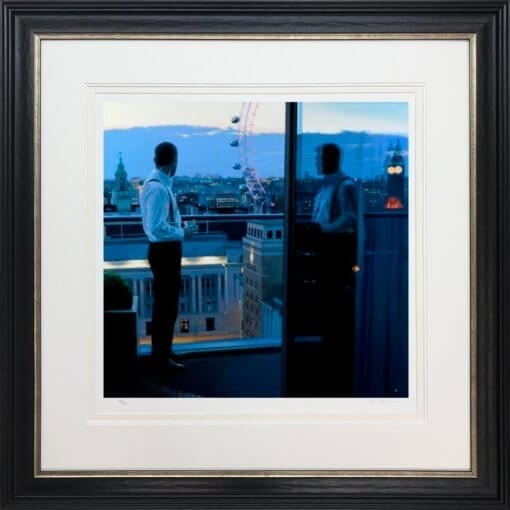 London Evening Framed