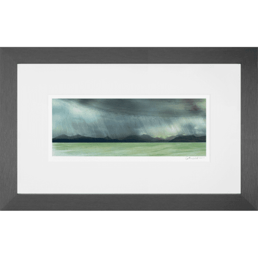 rain storm over the sky painting