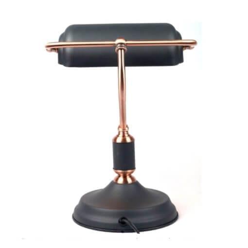 banker lamp back view