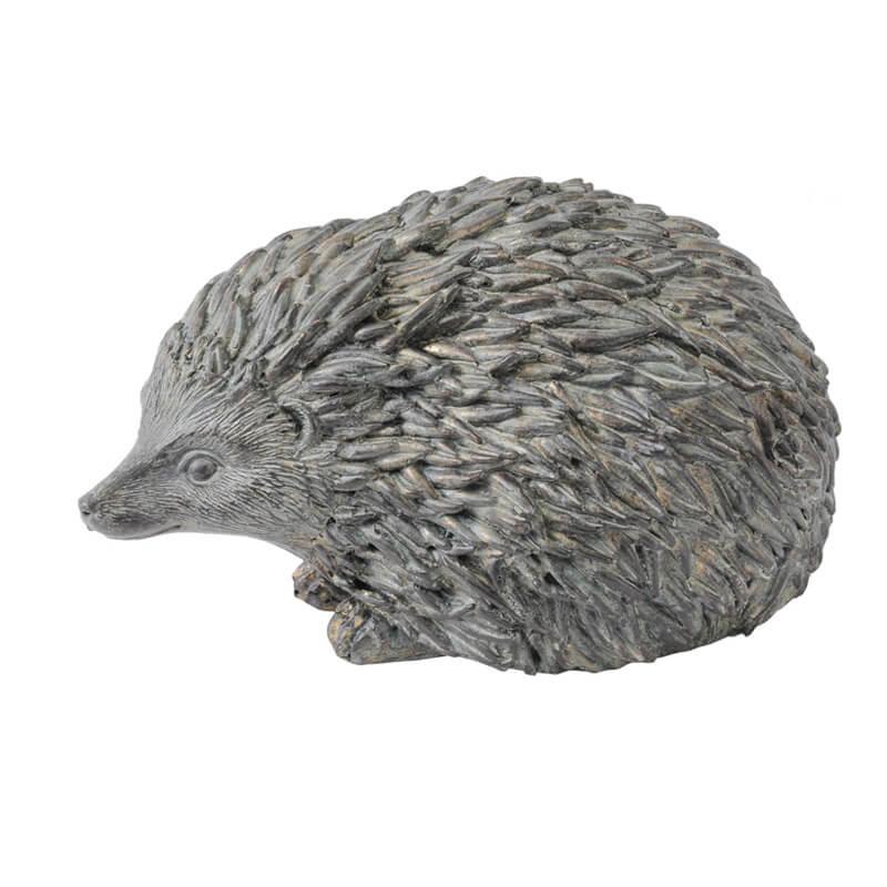 libra verdigris hedgehog sculpture