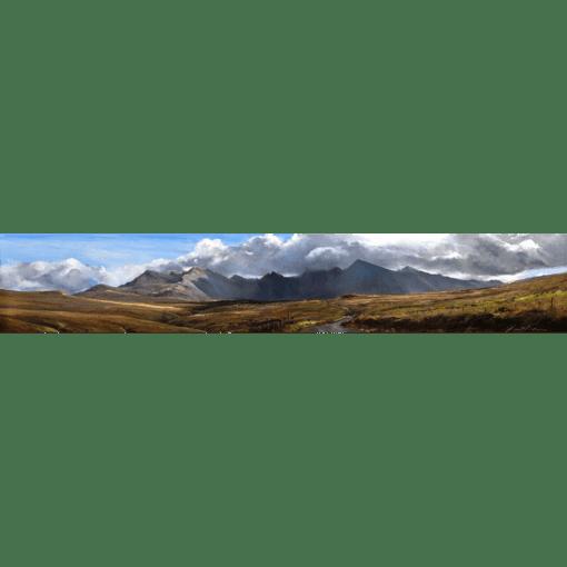 Fiona Haldane Distant Cuillins Skye