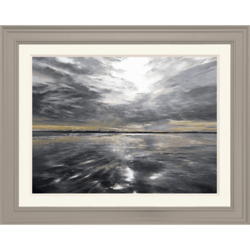 Fiona Haldane_Clouds in the Sand, St Andrews_Pastel_