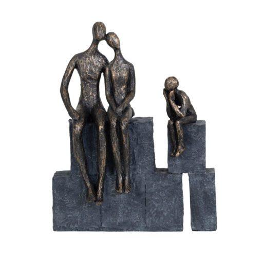 Bronze Blocks Family of three 703928.