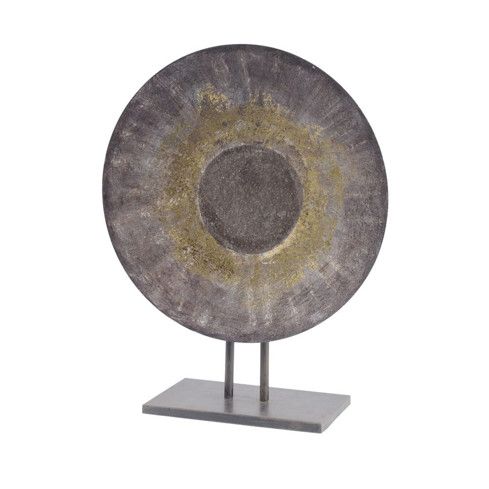 Grey and gold sculpture