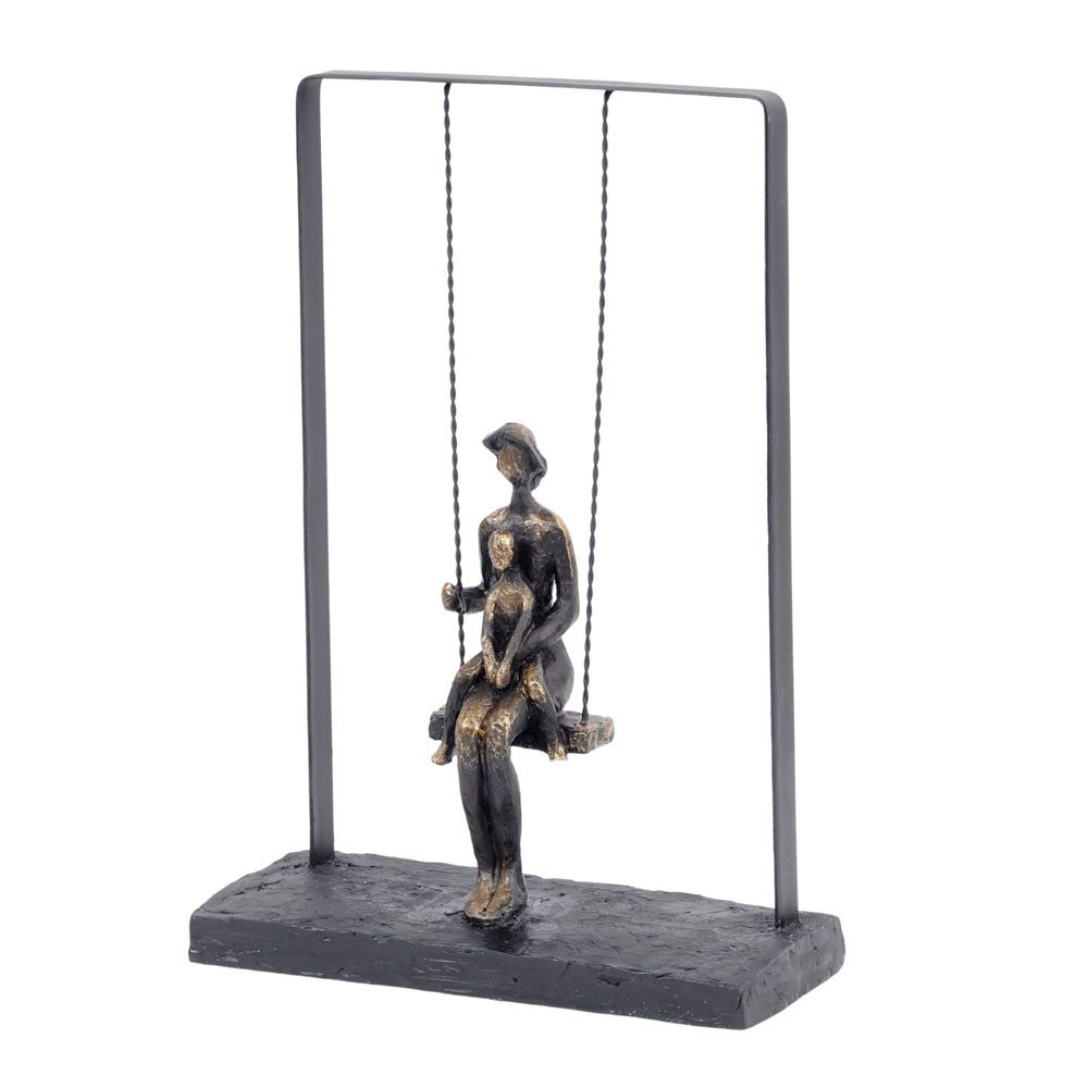 Mother and Baby on Swing Bronze Figurative Sculpture 703220